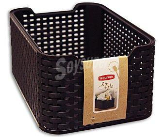 CURVER Caja multiusos resistente al agua y la humedad, 18 litros, modelo My Style, color marrón chocolate 1 Unidad