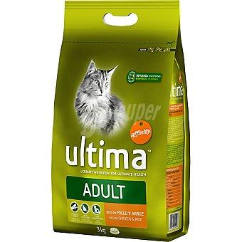 Ultima Affinity Alimento rico en pollo y arroz para gatos Adult Bolsa 3 kg