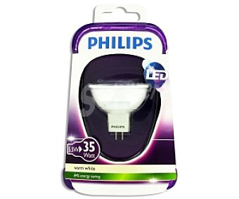 Philips Foco led 5,5W( equivalencia 35W) , casquillo GU5.3, blanca cálida, 12V Forma MR16 No regulable 1u