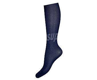 MIMI Opaques Panty 100 den opaco, mate, sin demarcación color azul, talla S.