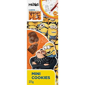 MAXIES Minions Mini cookies de chocolate Paquete 275 g