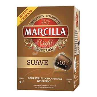 Marcilla Café suave en cápsulas 10 u