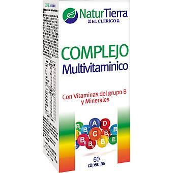 NaturTierra Complejo multivitamínico con vitaminas tipo B y minerales ápsulas envase 240 g 60 c