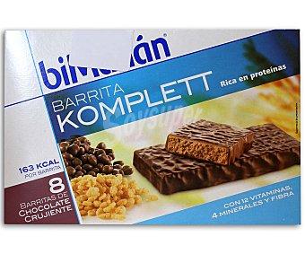 Bimanan Barritas komplett de chocolate crujiente Caja 8 uds