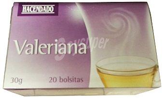 Hacendado Infusion valeriana Caja 20 bolsitas (30 g)