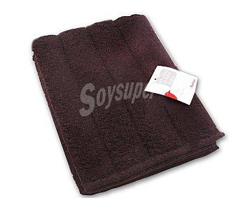 Auchan Alfombra de rizo 100% algdón, 1200 g/m², color marrón chocolate, 40x60 centímetros 1 Unidad