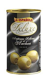 La Española Aceitunas rellenas de anchoa Deluxe Lata de 150 g neto escurrido