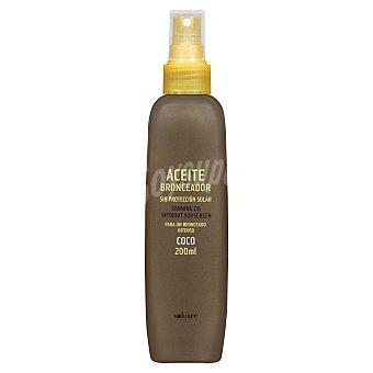 Solcare Bronceador aceite solar sin factor de proteccion aroma coco (spray) Botella 200 ml