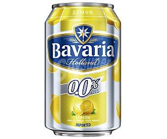 Bavaria Cerveza holandesa sin alcohol 0,0% con limón Lata de 33 centilitros