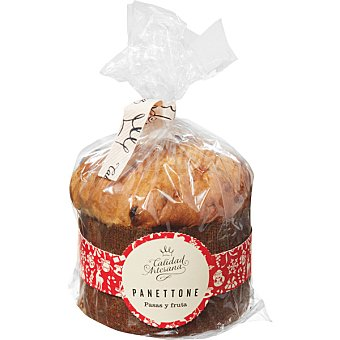 CALIDAD ARTESANA Panettone con pasas y fruta envase 480 g