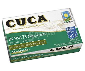 Cuca Atun Claro aceite oliva Virgen extra ecológico Lata de 80 g neto escurrido