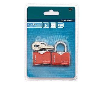 Arregui Lote de 2 candados de latón de arco corto y de colores con llave 2 unidades