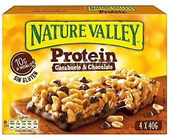 Nature Valley Barritas de cereales cacahuete y chocolate protein 4 x 40 g