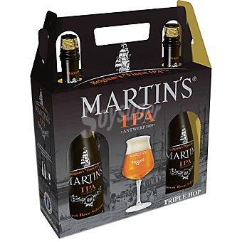 MARTIN'S cerveza rubia belga + Copa de regalo estuche 2 botellas 75 cl