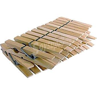 MAURIS Pinzas para la ropa de madera blister 24 unidades
