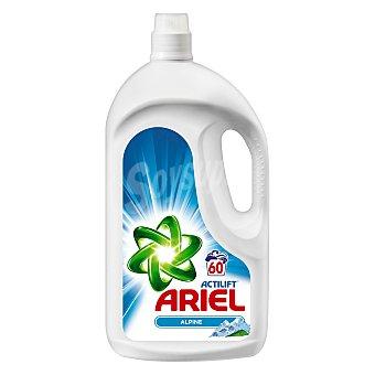 Ariel Detergente máquina líquido con actilift frescor de los Alpes botella 60 dosis pack XL Botella 60 dosis