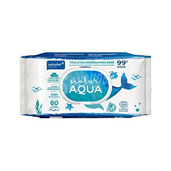 Salustar Toallitas húmedas para bebé Natur Aqua 60 ud