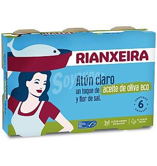 Rianxeira Atun claro aceite oliva eco 6 unidades