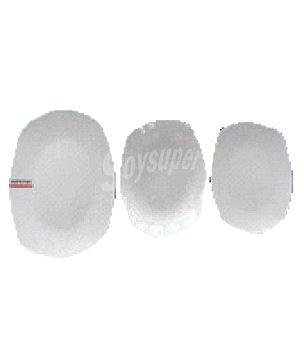 Carrefour Home Set 18 piezas cuadradas porcelana blanca