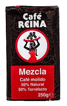 Reina Café molido mezcla 50-50 Paquete 250 g