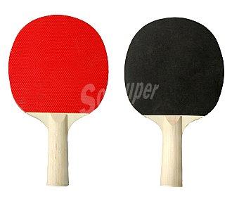 Productos Económicos Alcampo Pala de ping pong de madera con recubrimiento de goma 1 unidad