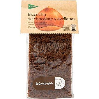 El Corte Inglés Bizcocho de chocolate y avellanas Paquete 350 g