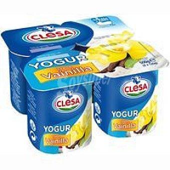 CLESA Yogur de vainilla Pack 4x125 g