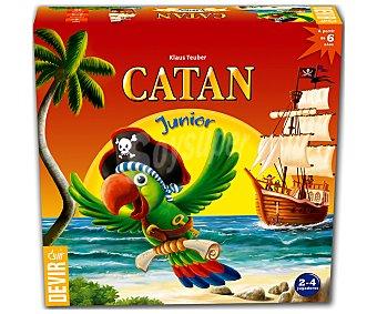 DEVIR Catán Junior Juega de mesa infantil de estrategia y gestión de recursos Catán Junior, de 2 a 4 jugadores, DEVIR.