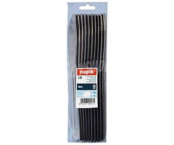 Nupik Cuchillos desechables fabricados en plástico color plata 10 unidades