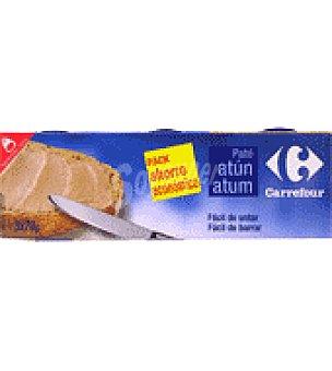 Carrefour Paté de atún Pack de 3x78 g