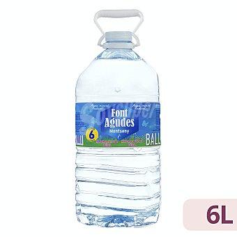 Font Agudes Agua mineral natural Garrafa 6 l