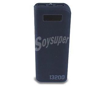 Qilive Cargador de batería portátil, capacidad 13200mAh, 2 puertos Usb, voltaje de salida: 5V, 1A/2.1A. Función linterna, pantalla Q.8300