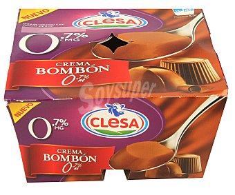 CLESA Postre de bombón 0% materia grasa 4 unidades de 125 gramos