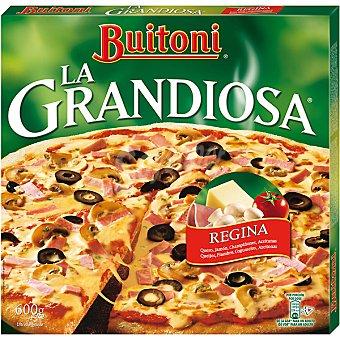 Buitoni Regina queso jamón champiñones y aceitunas La Grandiosa Estuche 600 g