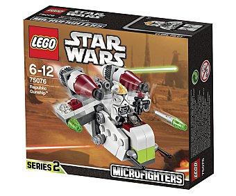 LEGO Juego de construcciones Star Wars microfighters, Republic gunship, Modelo 75076 1 unidad
