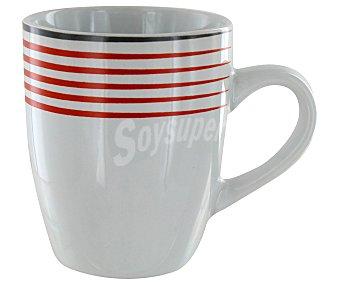 GSMD Mug o taza alta con asa modelo Lines, con capacidad de 350 mililitros y fabricada en porcelana decorada con diseño de lineas 1 Unidad
