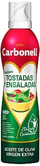 Carbonell Aceite de oliva virgen extra especual para tostadas y ensaladas Spray 200 ml