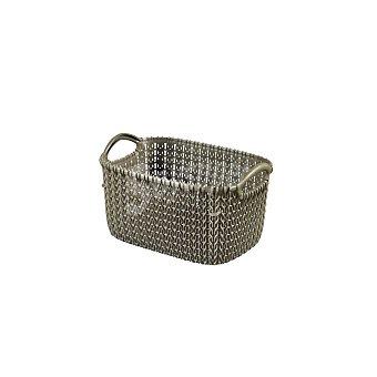 Curver Cesta de ordenación de Plástico knit 14 x 25 x 17 cm - Marrón 1 ud
