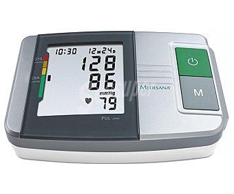 MEDISANA MTS 51152 Tensiómetro de brazo, con función semáforo, medidor de la tensión arterial, función de diagnóstico, detección de arritmias, apagado automático