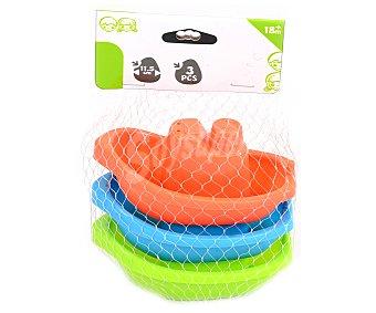 Productos Económicos Alcampo Juego de 3 barquitos de colores para baño alcampo