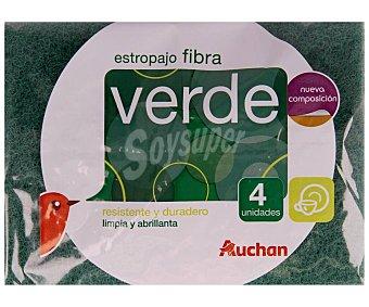 Producto Alcampo Estropajo de fibra verde resistente y duradero 4 uds