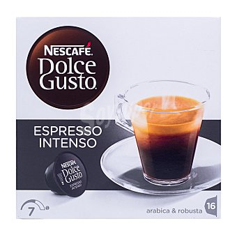 Dolce Gusto Nescafé Nescafé Dolce Gusto Café Cápsulas Espresso Intenso Caja 16 cápsulas