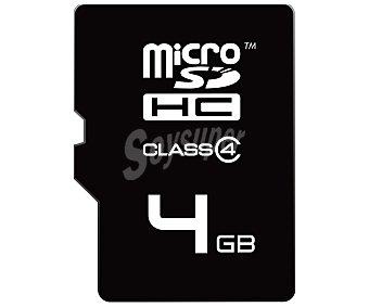 EMTEC Tarjeta de memoria Microsd/hc 4GB microsd+adaptador a SD de alta velocidad clase 4