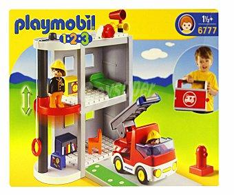 PLAYMOBIL Conjunto de Juego Playset Maletín parque de bomberos, Modelo 6777 1 Unidad
