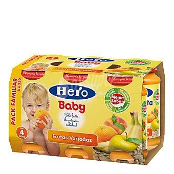 Hero Baby Tarrito frutas variadas Pack 5x250 g