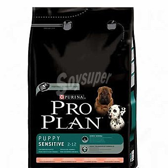 Purina Pro Plan Alimento especial para cachorros de cualquier raza de piel sensible con salmón y arroz Puppy Sensitive Bolsa 14 kg
