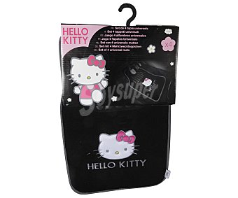 HELLO KITTY Lote de 4 Alfombrillas para Coche con Diseño Hello Kitty Fabricadas en Moqueta de Alta Calidad 1 Unidad
