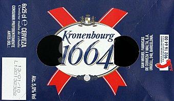 Kronenbourg Cerveza rubia de importación Pack 6x25 cl
