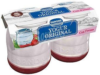 Danone Original Yogur con fresas enriquecido 2 unidades de 140 g