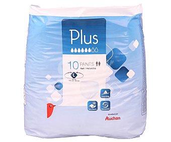 Auchan Pañal incontinencia talla grande para adultos 10 unidades